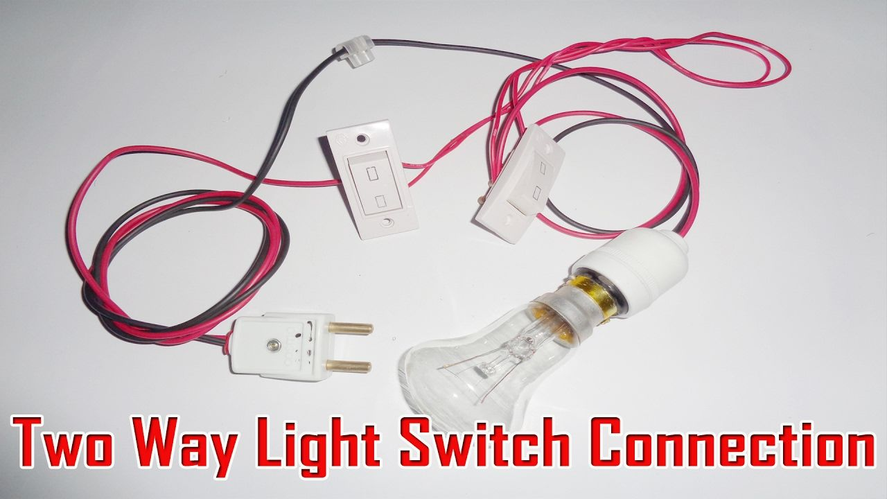 Two Way Light Switch Connection 2 Way Switch Connection Two Way