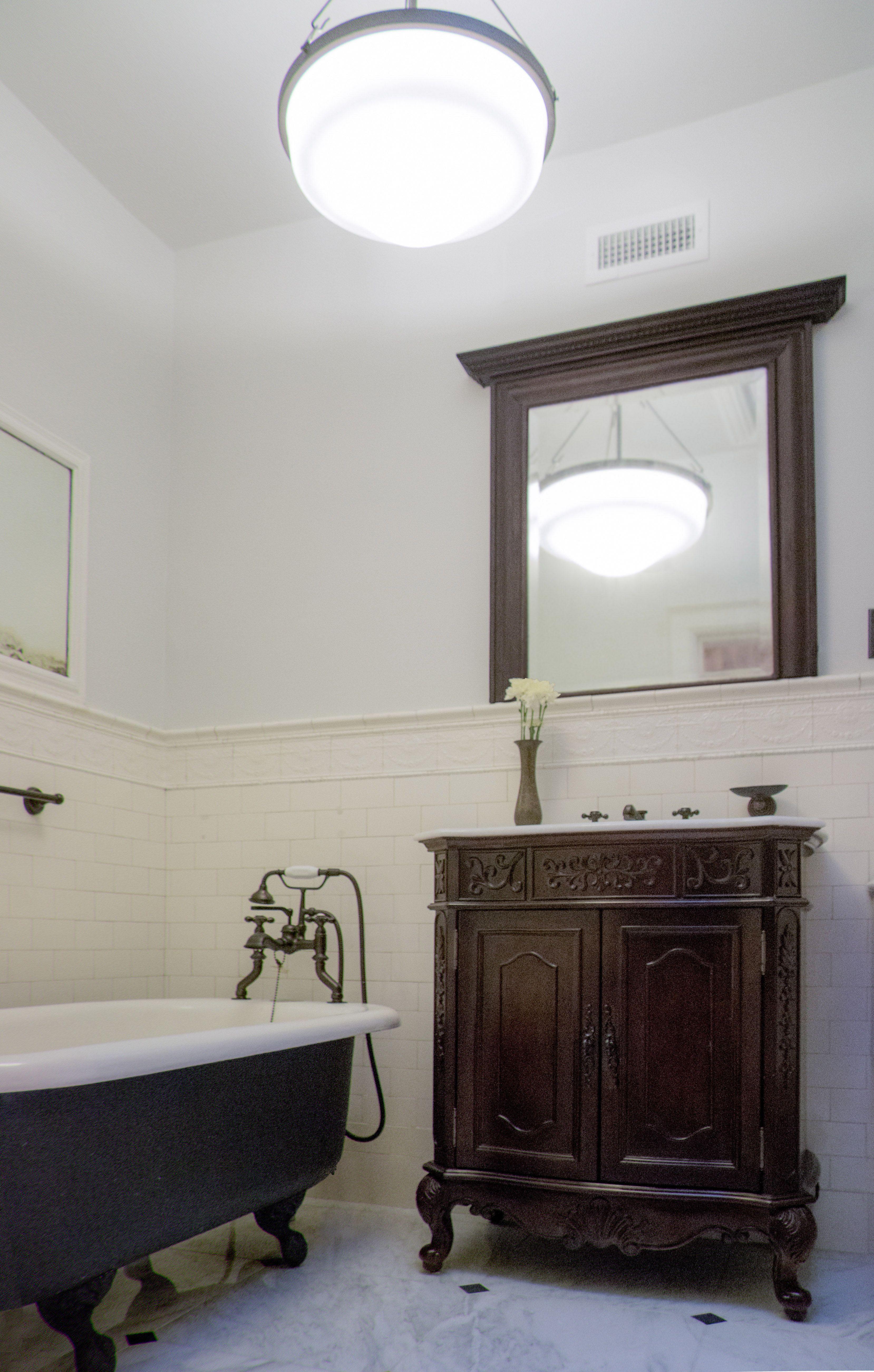 renovated bathroom at a landmark townhouse in Brooklyn, NY ...
