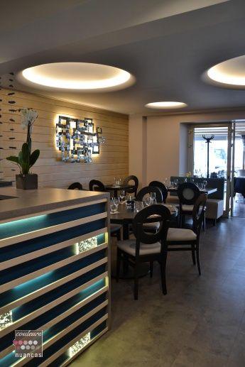 Décoration restaurant Le Vivier à Erquy (22)  Réalisation Couleurs et Nuances.