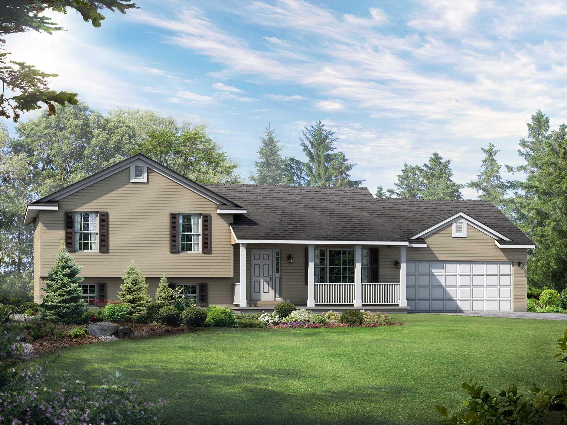 Lexington Floor Plan SplitLevel Custom Home in 2020