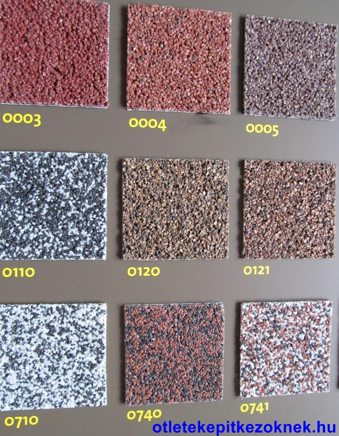 weber-terranova színes díszítő lábazati vakolatai