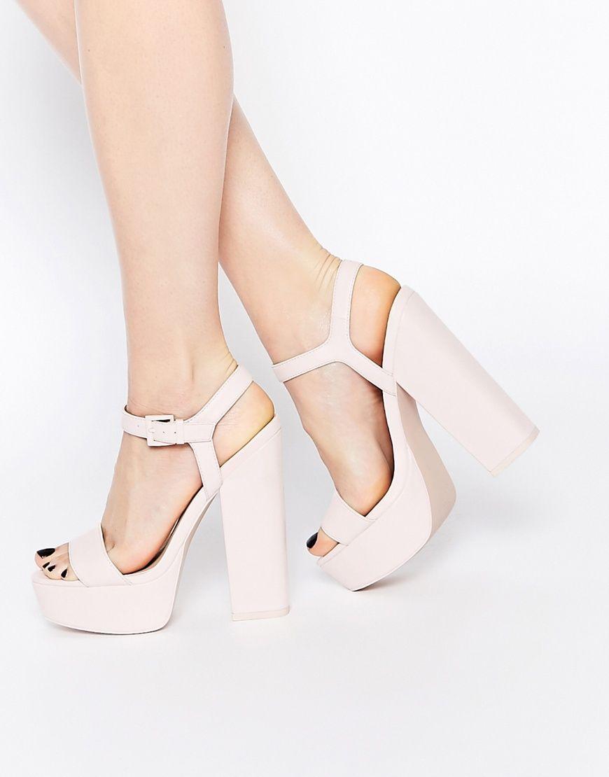 befd64f21 ASOS Sandales à talons - Rose | Heels, shoes, boots, sandals, etc ...