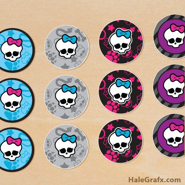 FREE Printable Monster High Cupcake Toppers   Free Printables