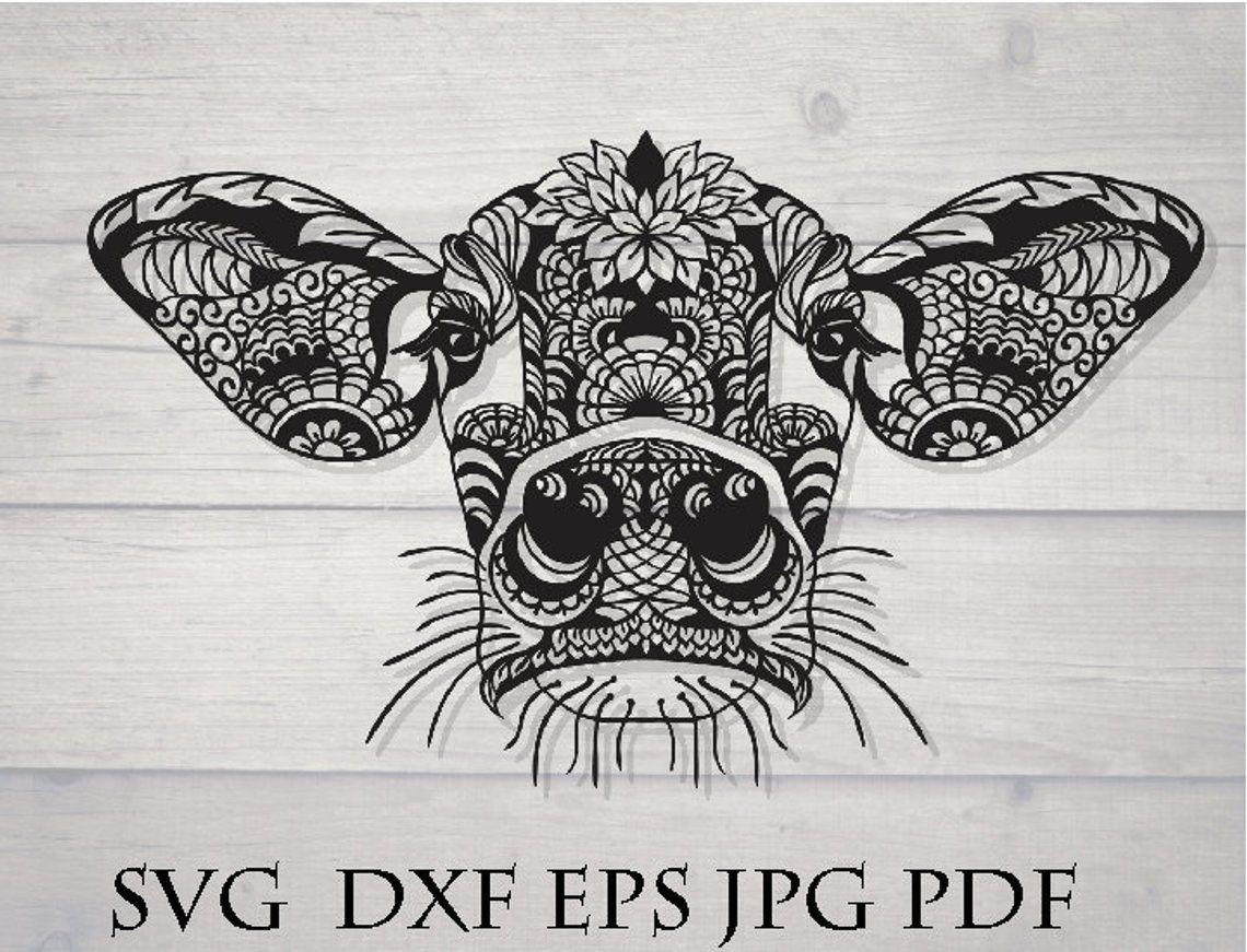 image 0 Mandala drawing, Cow tattoo, Mandala