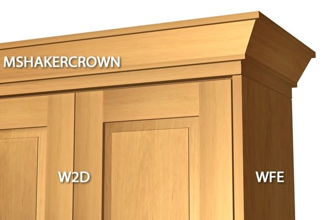Shaker 2 Piece Crown Molding With Backer Kitchen Cabinet Crown