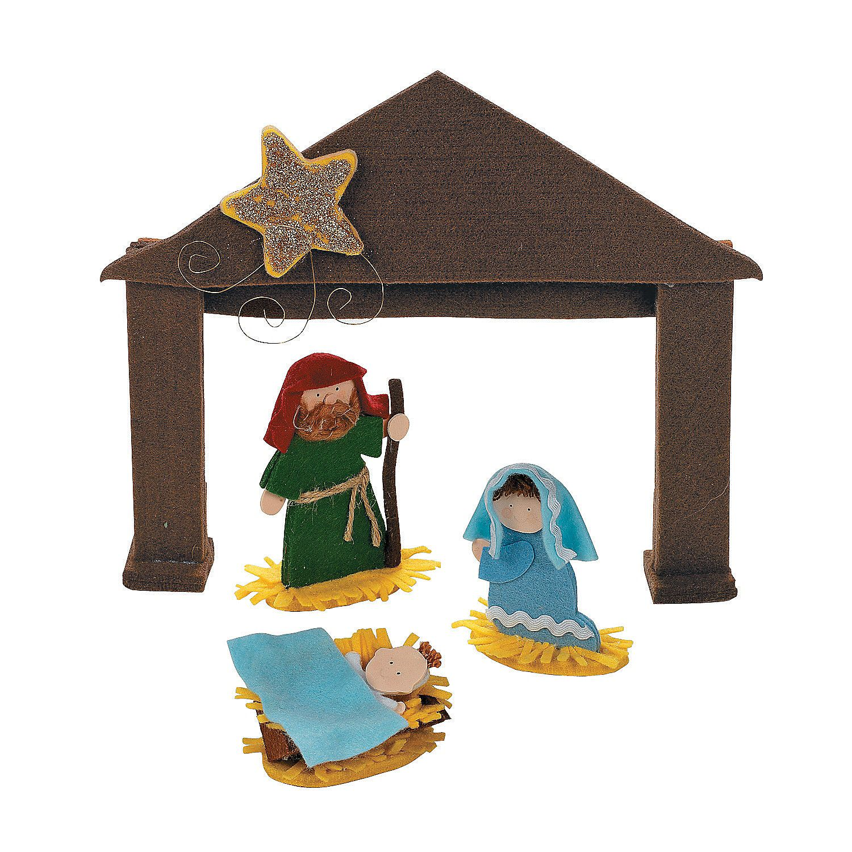 3D Manger & Holy Family Nativity Craft Kit  Orientaltradingcom