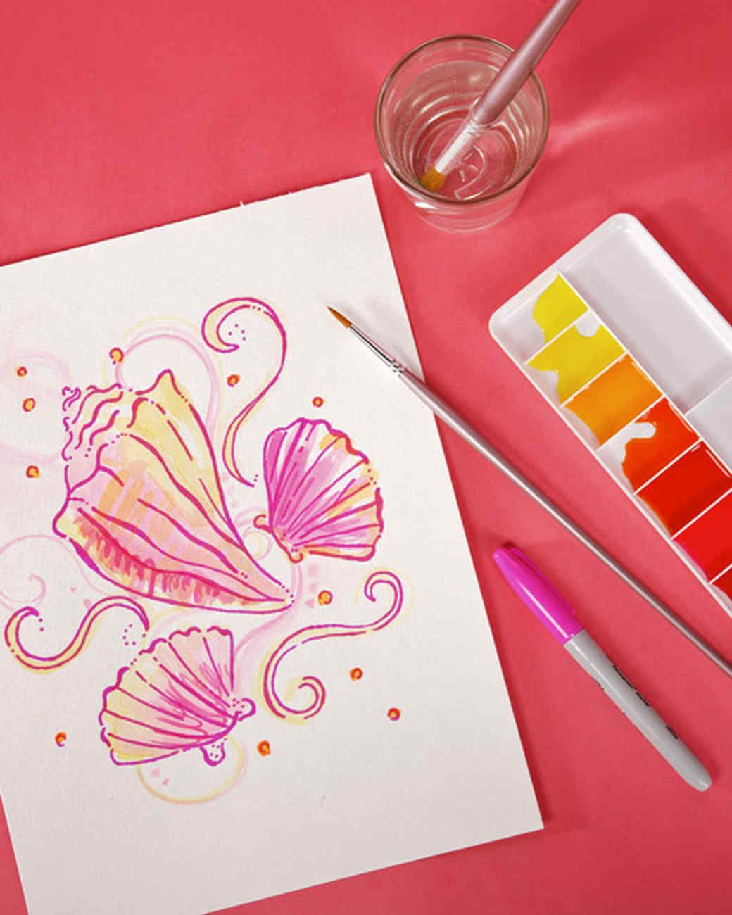 create a lilly design pattern watercolor pinterest diy rh pinterest com