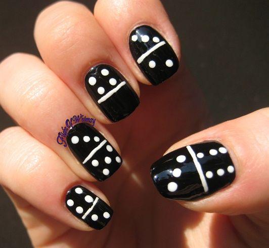 Dominoes By Flightofwhimsy Nail Art Gallery Nailartgallery