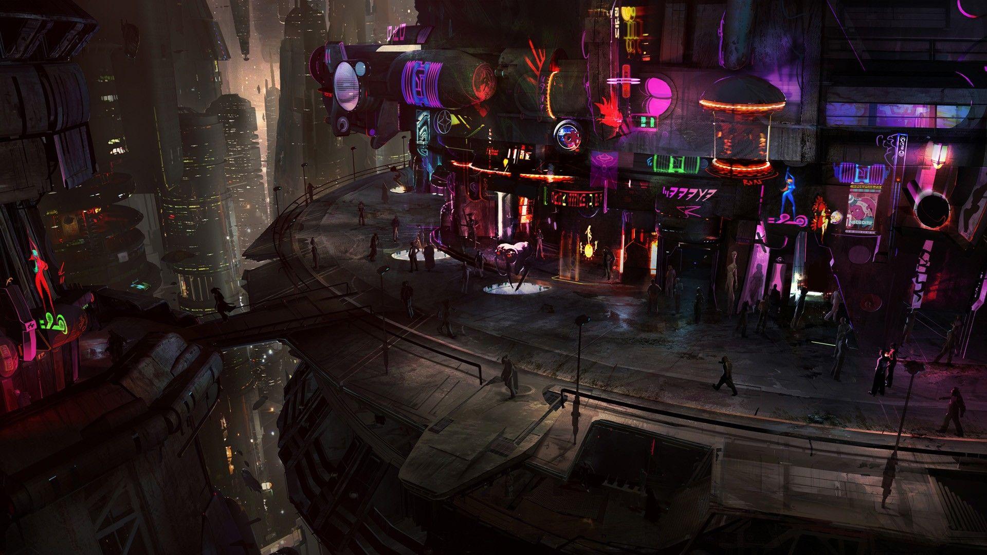 Cyberpunk Ish Wallpaper Dump 1080p Futuristic City Star Wars Concept Art Star Wars 1313