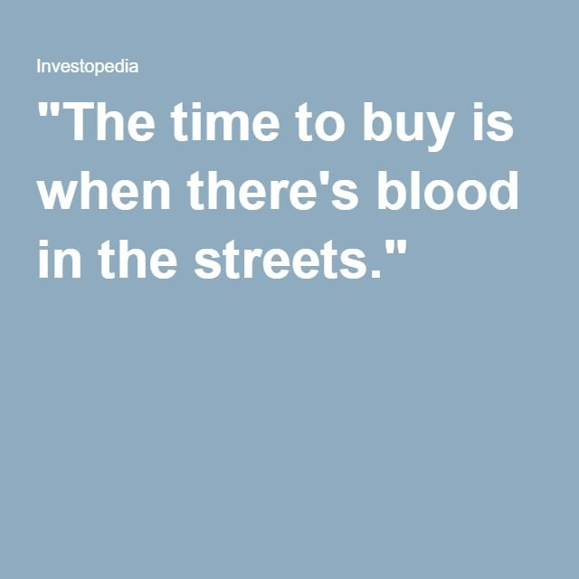 The time to buy is when thereu0027s blood in the streets - fresh 6 chase mortgage statement