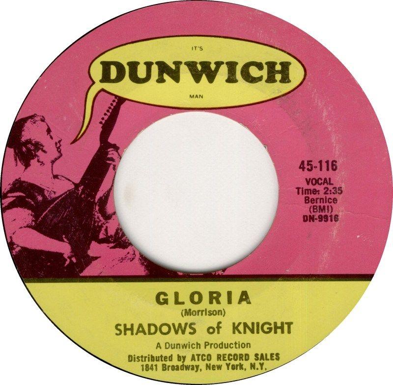 Gloria Shadows Of Knight 1966 1960 S Jukebox 45s