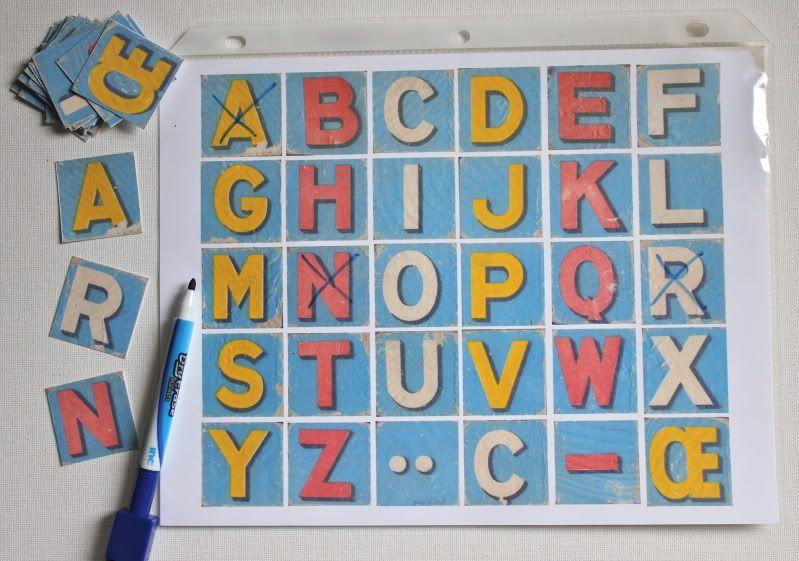Dry Erase Alphabet Matching