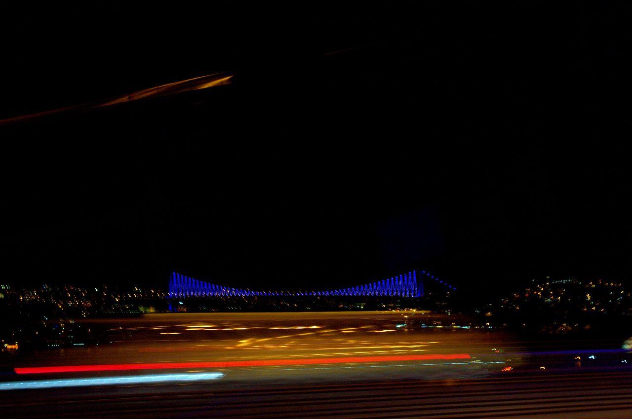 FSM köprüsünden bir boğaz köprüsü manzarası