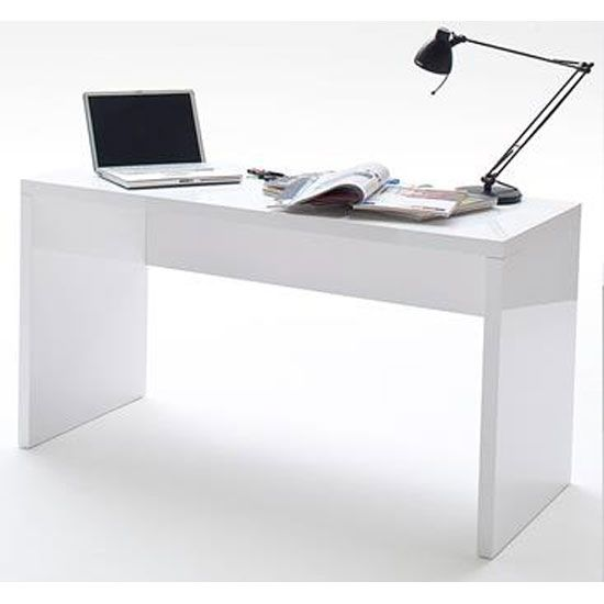 High Gloss White Office Desk Digihome