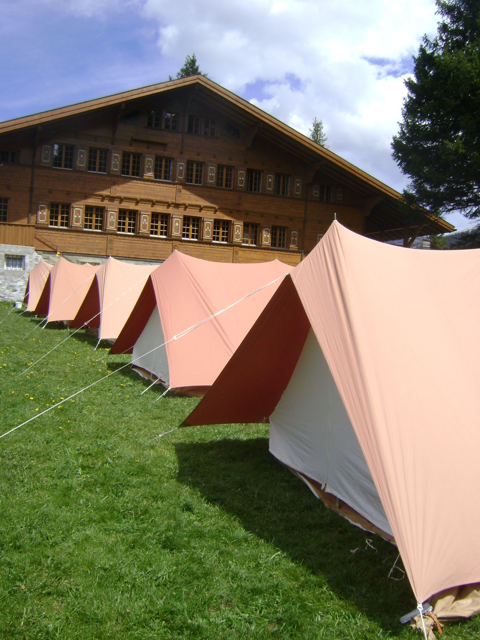 Tents pitched outside Main Chalet & Tents pitched outside Main Chalet | Our Chalet Grounds and ...