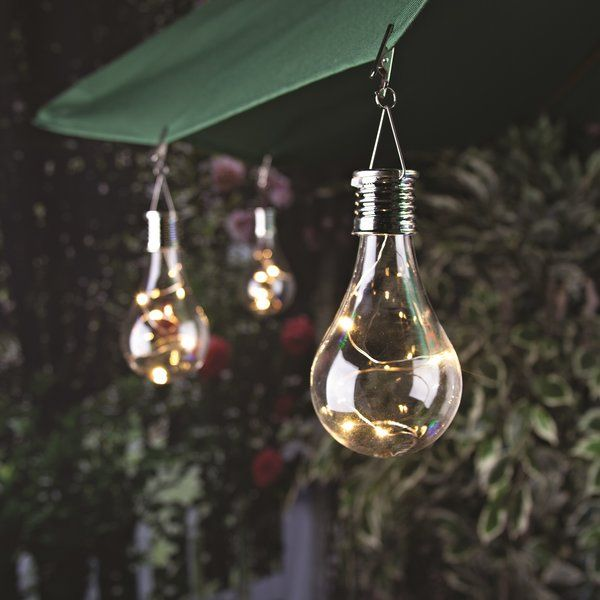Solar Umbrella Clip Lights Cool Solar Bulb  Bulbs Solar And White String Lights Design Decoration