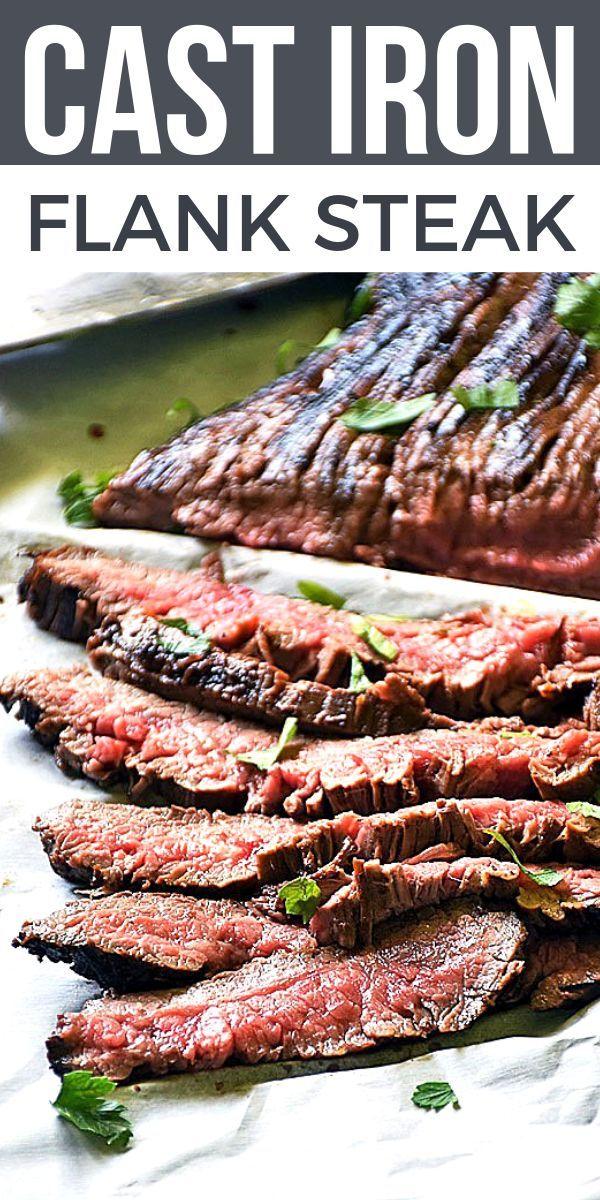 Cast Iron Flank Steak #quickandeasydinnerrecipes