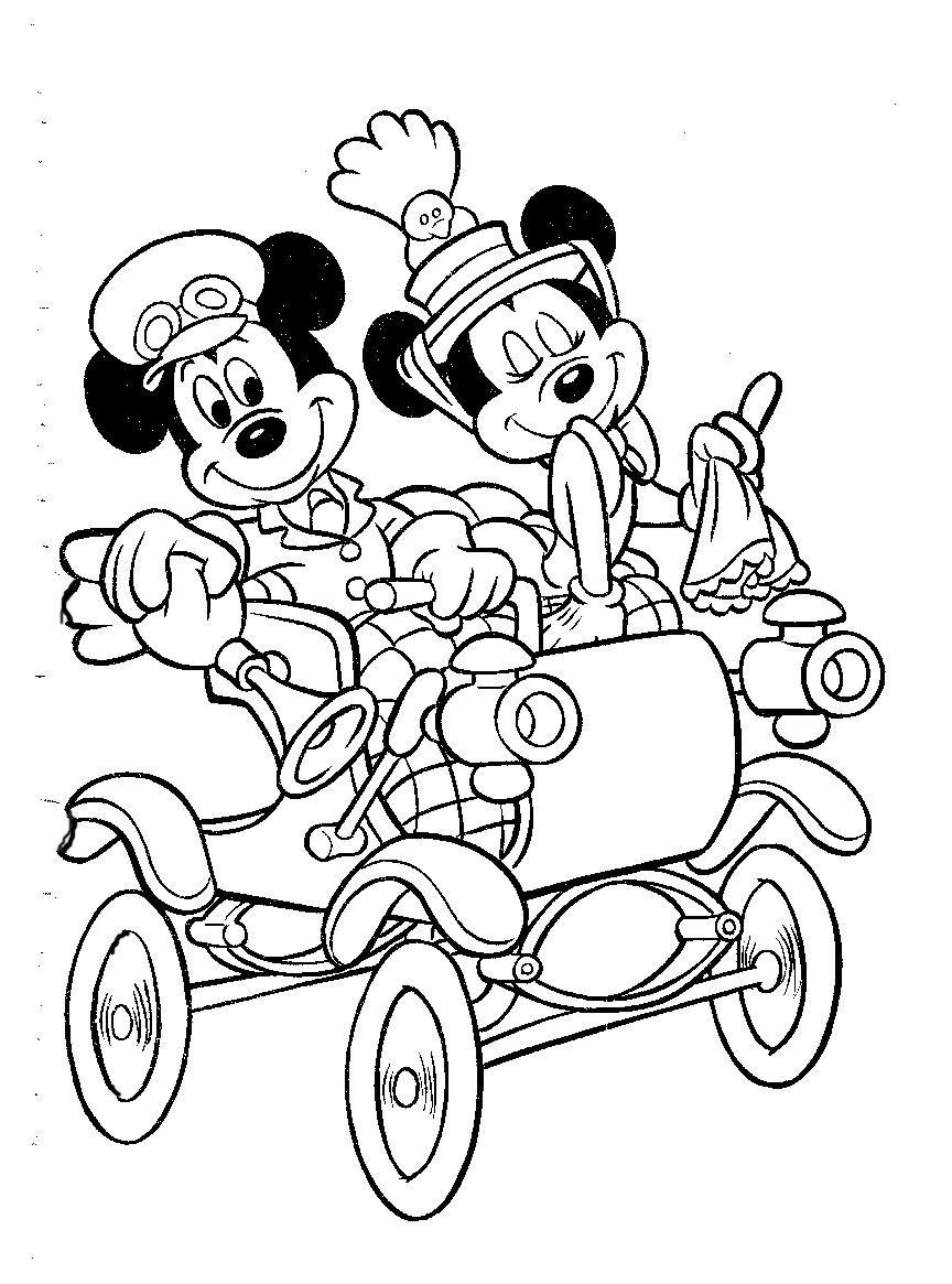 mikke mus fargelegging for barn tegninger for utskrift og