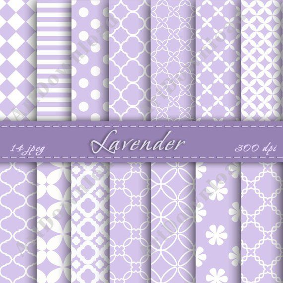 27aff6485308b Lavender Digital Paper - Scrapbooking Paper, Digital Scrapbook Paper ...