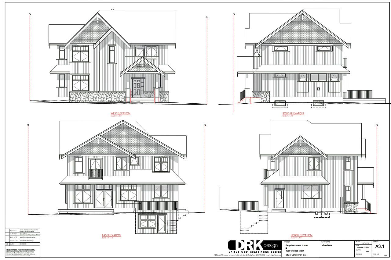 Posts About Drkdesign Work On Modern Vancouver Houses Vancouver House Architecture Blueprints Elevation Drawing