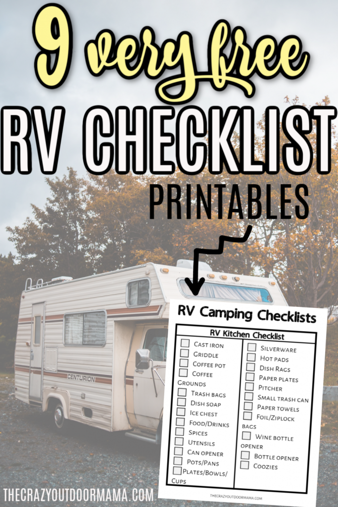 Photo of The Ultimate RV Camping Checklists [9 Free Printable PDFs] – The Crazy Outdoor Mama