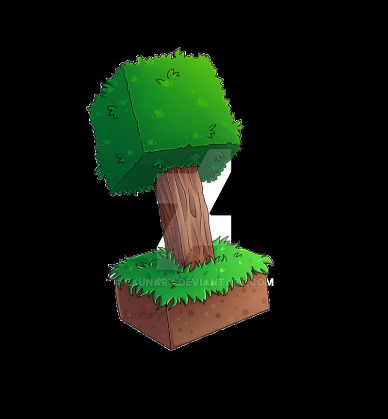 Tree Experiment By Exunary Deviantart Com On Deviantart Art Inspiration Art Minecraft Tree