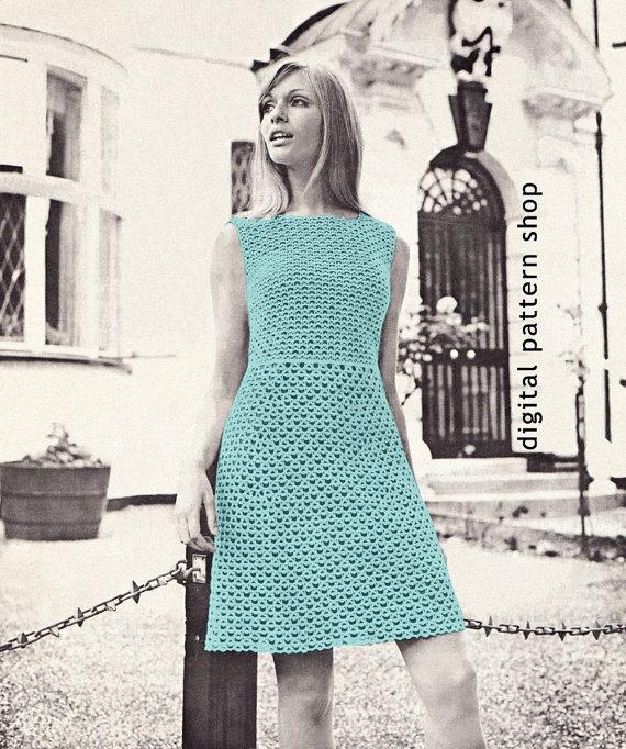 Womens Crochet Dress Pattern Lace Dress Crochet Pattern Sleeveless