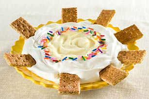 Yummmmm...vanilla pudding and cool whip with graham crackers