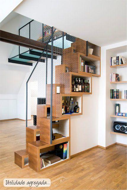tiny house hacks to maximize your space home pinterest maison escalier design et. Black Bedroom Furniture Sets. Home Design Ideas