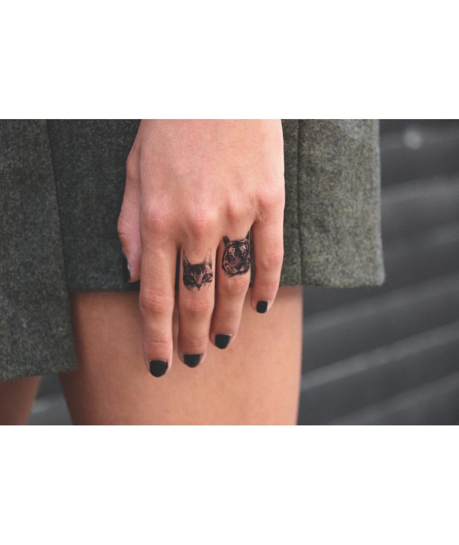 dcer tatouage ph m re chat et tigre on aime. Black Bedroom Furniture Sets. Home Design Ideas