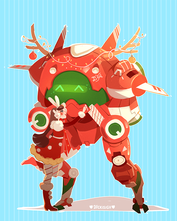 i designed a christmas skin for dva im so excited for the overwatch winter event x patreon shop twitter twitch
