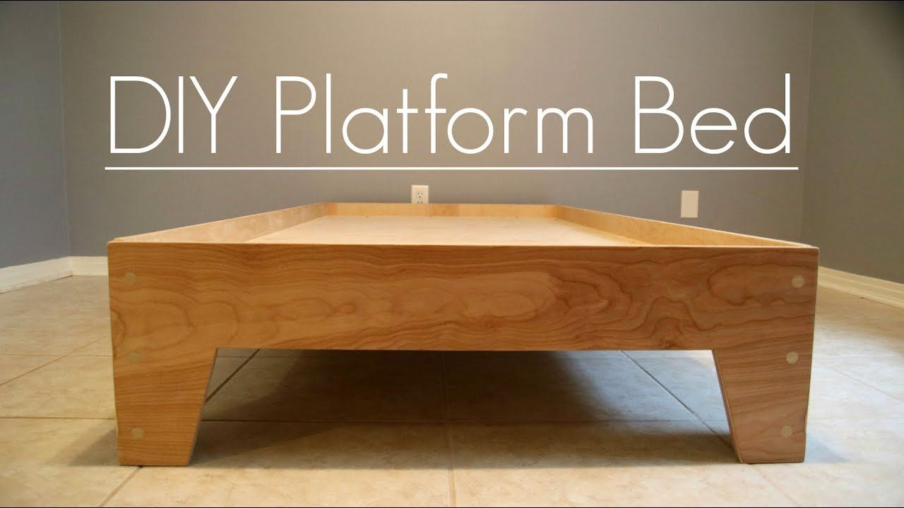 Diy Platform Bed With Video Instructions Diy Woodworking