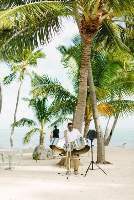 Steel Drum Player At Beach Wedding Ceremony In Islamorada