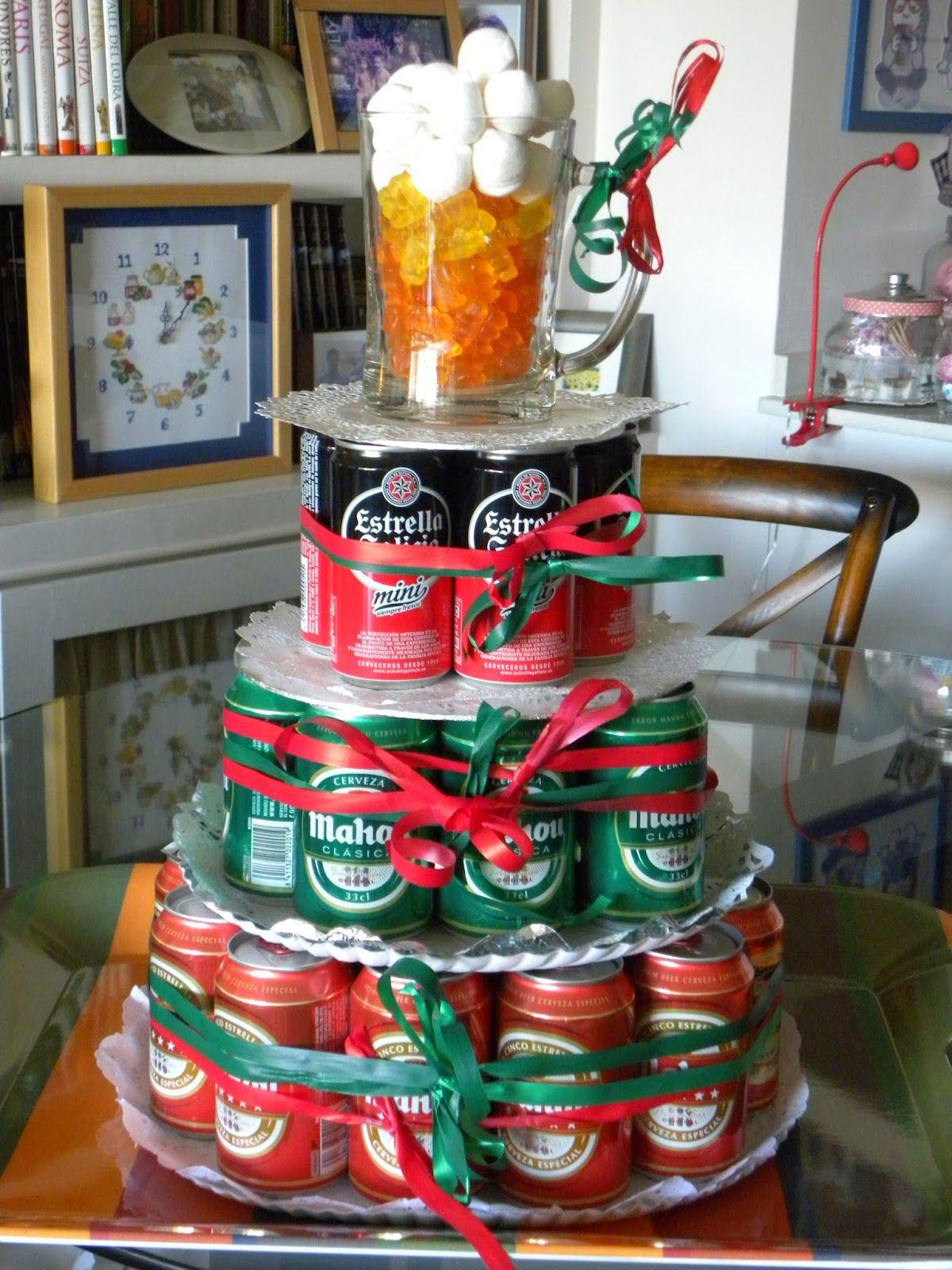 Im genes de feliz cumplea os con cerveza3 tartas de for Decoracion con fotografias
