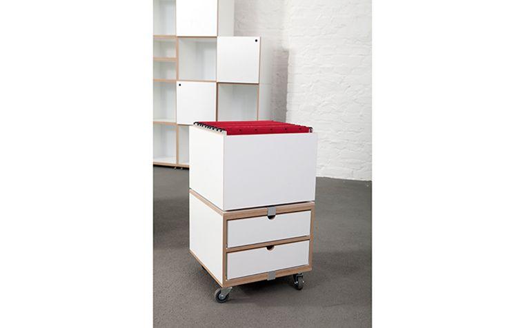 rollcontainer mit h ngeregister und rollregale ideen4wohnen pinterest. Black Bedroom Furniture Sets. Home Design Ideas
