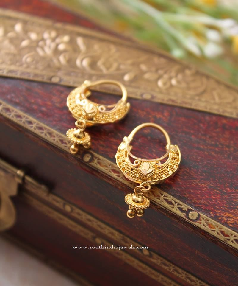 f4f8e47fd Indian Gold Hoop Earrings Designs, Gold Hoop Earrings in India, Designer Gold  Hoop Earrings.