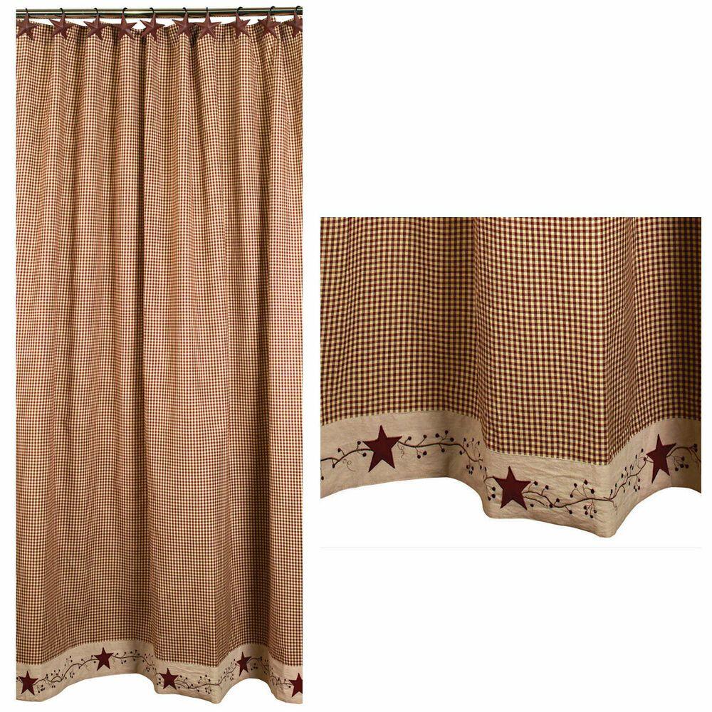 EBay #Sponsored Stars And Berries Country Shower Curtain