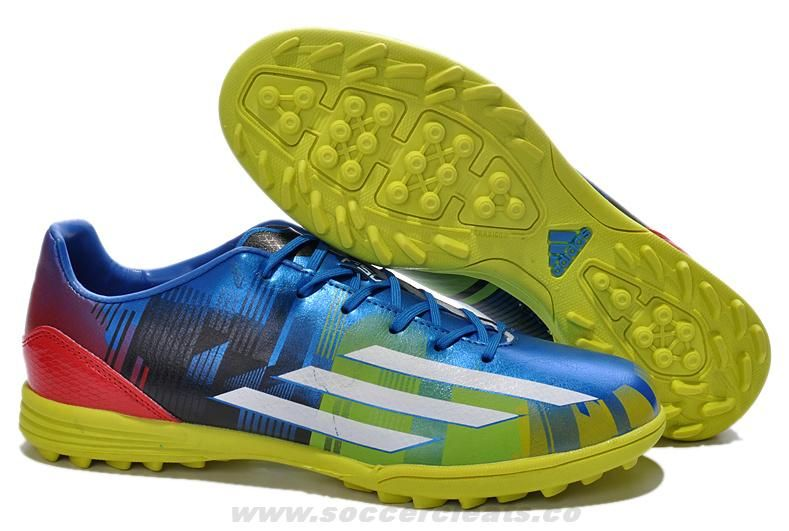 blue adidas football cleats