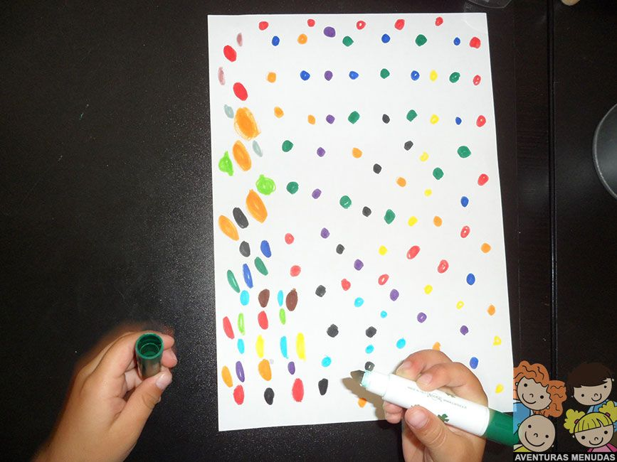 Laberinto de colores DIY