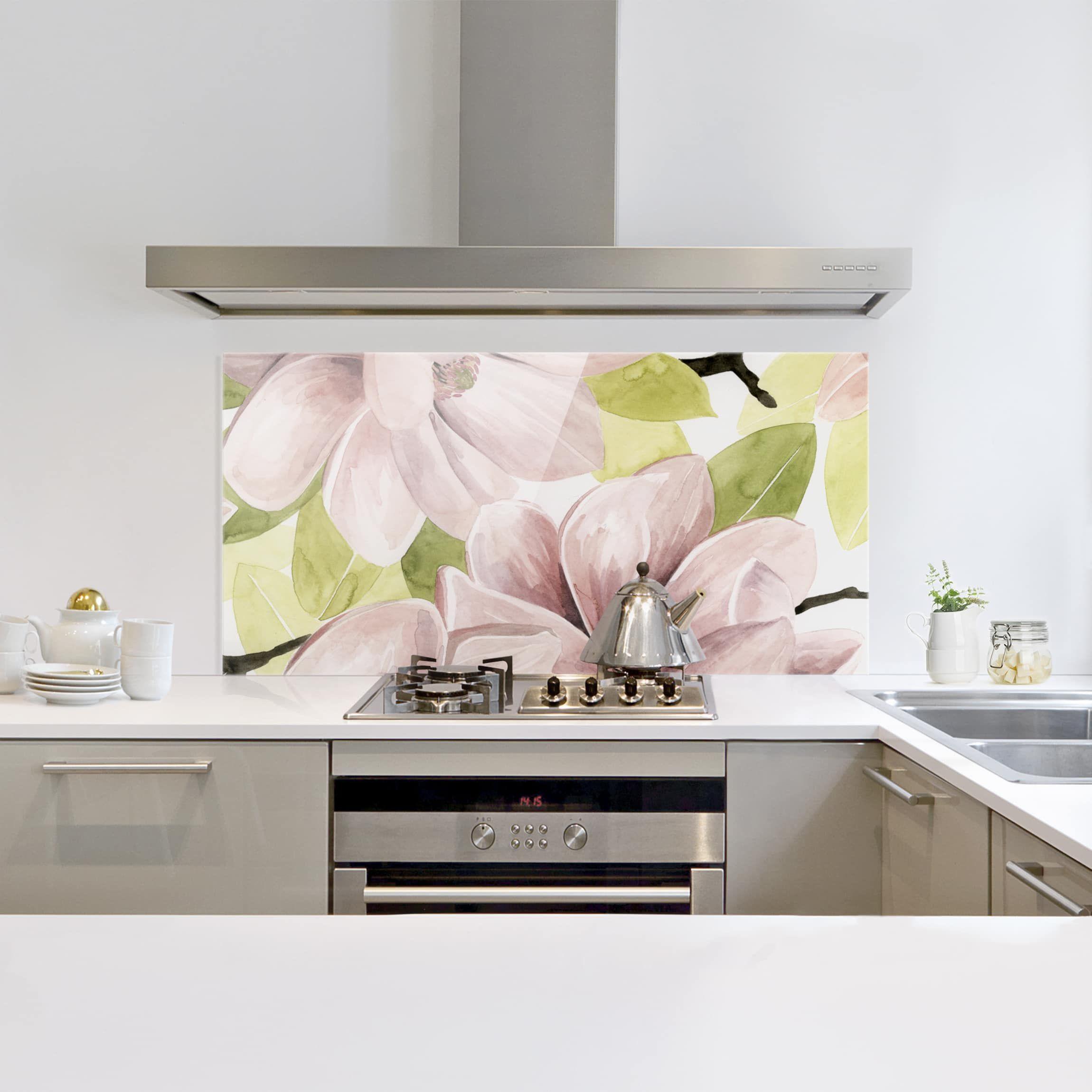 Spritzschutz Glas - Magnolie errötet II - Querformat 2:3 | Modernes  schlafzimmer, Spritzschutz, Küchenwand