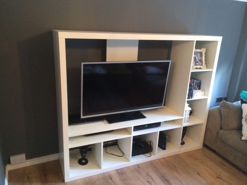 Perfect IKEA Expedit TV Storage Unit   White