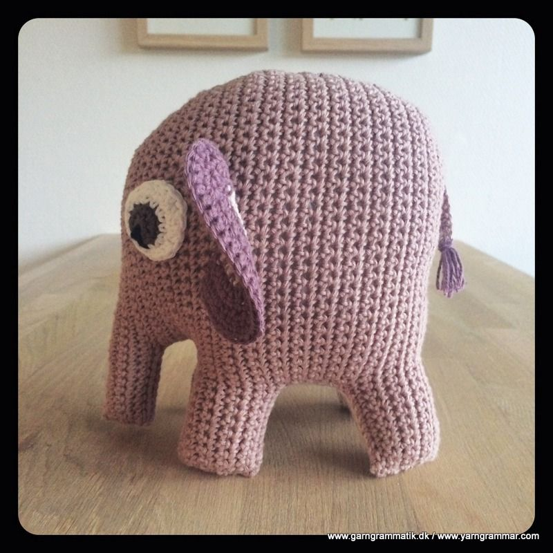 Elefanten Bodil Babylegetoj Haekleopskrifter Haeklemonstre