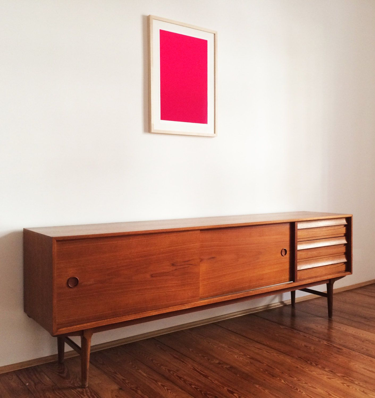 sideboard teak danish modern design mid century credenza