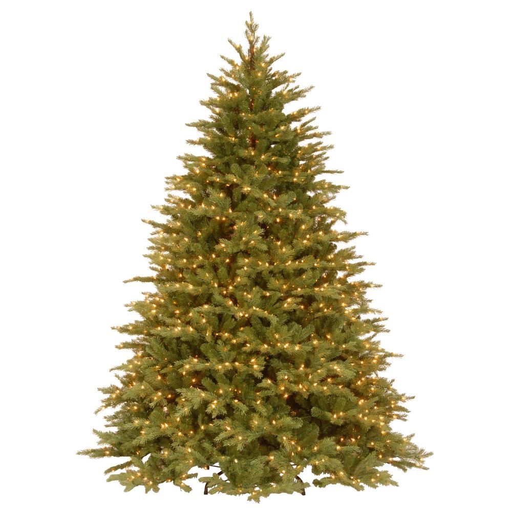 Feel Real Nordic Spruce Medium Hinged Artificial Christmas Tree With Clear Lights Greens