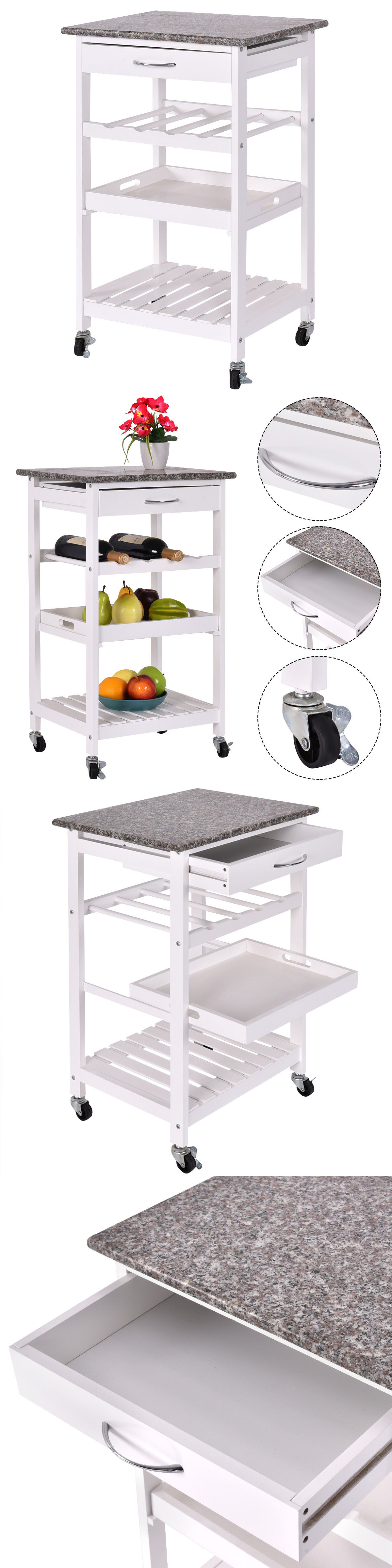 kitchen islands kitchen carts 115753 4 tier rolling wood kitchen