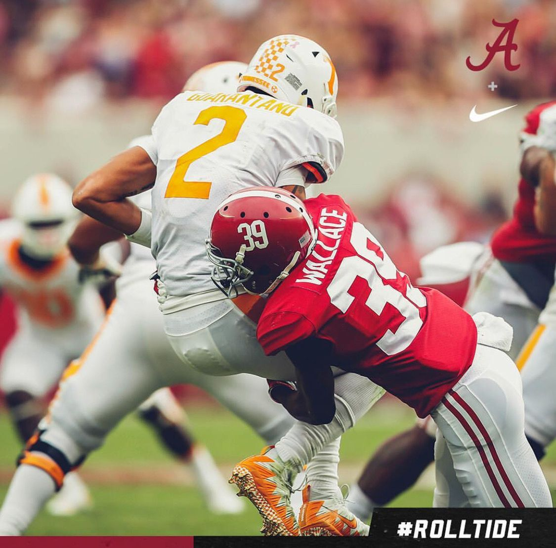 Levi Wallace With His First Career Sack Alabama 45 Tennessee 7 Graphic Via Alabamafbl On Instagram Alabama Alabama Crimson Tide Alabama Football Alabama