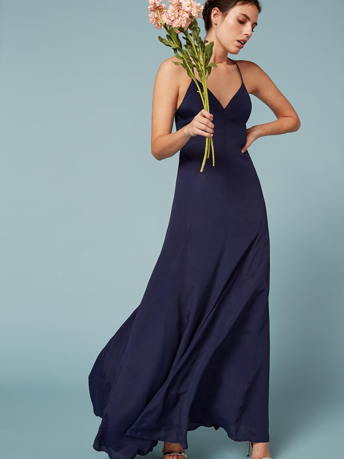Dima Dress | Sapphire, Ugly dresses and Plunging neckline