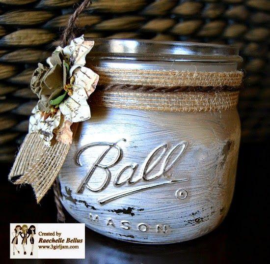 all things cRAEtive: jute-trimmed mason jar