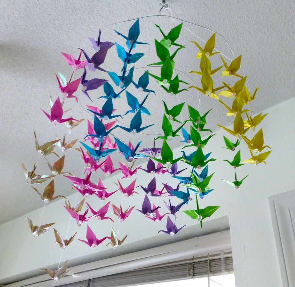 Colourful Crane Mobile | tony | Origami mobile, Crane ... - photo#11