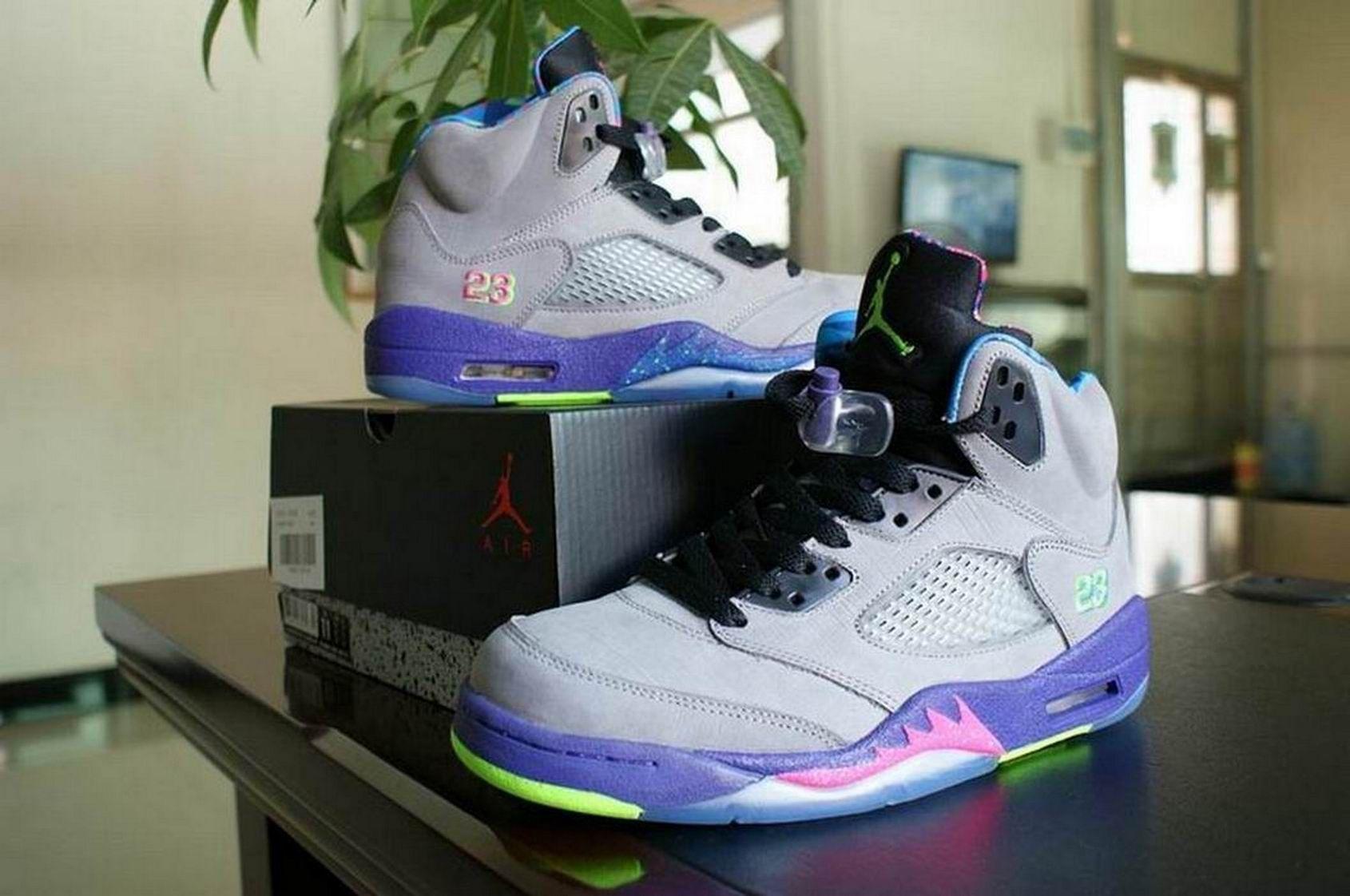 hot sale online 79c87 85f98 hot air jordan retro 5 bel air grey purple green 6cf51 20650  clearance  jordan shoes 2014 9a203 0e1df